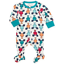Buy Polarn O. Pyret Baby Reindeer Sleepsuit, Green Online at johnlewis.com