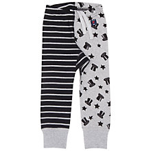 Buy Polarn O. Pyret Baby Stripe and Star Leggings, Grey Online at johnlewis.com