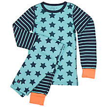 Buy Polarn O. Pyret Children's Star Pyjamas, Green Online at johnlewis.com