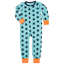 Buy Polarn O. Pyret Baby Star Sleepsuit, Green Online at johnlewis.com
