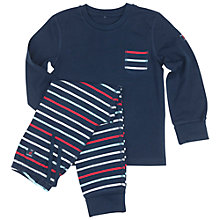 Buy Polarn O. Pyret Children's Striped Pyjamas, Blue/Multi Online at johnlewis.com