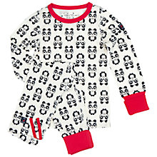 Buy Polarn O. Pyret Children's Panda Pyjamas, White Online at johnlewis.com