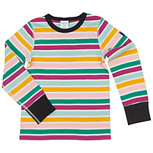 Buy Polarn O. Pyret Children's Stripe Top, White/Multi Online at johnlewis.com