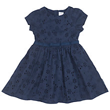 Buy Polarn O. Pyret Baby Broderie Anglaise Dress, Blue Online at johnlewis.com