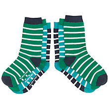 Buy Polarn O. Pyret Children's Stripy Socks, Green Online at johnlewis.com