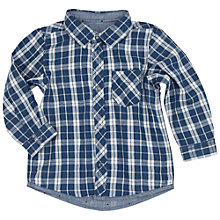 Buy Polarn O. Pyret Baby Reversible Shirt, Blue/White Online at johnlewis.com
