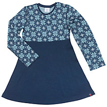 Buy Polarn O. Pyret Children's Snowflake Merino Dress, Blue Online at johnlewis.com