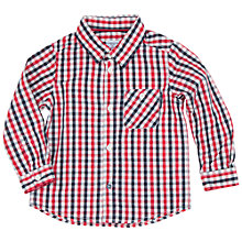Buy Polarn O. Pyret Baby Checked Shirt, Red Online at johnlewis.com