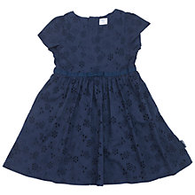 Buy Polarn O. Pyret Children's Broderie Anglaise Dress, Blue Online at johnlewis.com