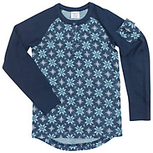 Buy Polarn O. Pyret Children's Merino Snowflake Top, Blue Online at johnlewis.com