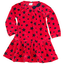 Buy Polarn O. Pyret Baby Star Velour Dress, Red Online at johnlewis.com