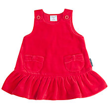 Buy Polarn O. Pyret Baby Velour Christmas Dress, Red Online at johnlewis.com
