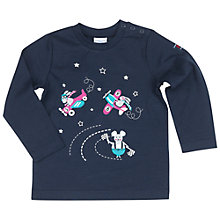 Buy Polarn O. Pyret Baby Animal Print T-Shirt, Blue Online at johnlewis.com