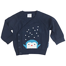 Buy Polarn O. Pyret Baby Penguin Cardigan, Blue Online at johnlewis.com