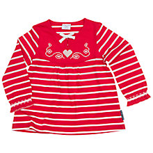 Buy Polarn O. Pyret Baby Stripe Tunic Top, Red Online at johnlewis.com