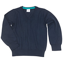 Buy Polarn O. Pyret Children's V-Neck Sweater, Navy Online at johnlewis.com