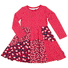 Buy Polarn O. Pyret Children's Floral Print Dress, Red Online at johnlewis.com