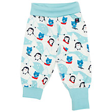 Buy Polarn O. Pyret Baby Snow Print Trousers, Blue Online at johnlewis.com