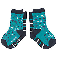 Buy Polarn O. Pyret Baby Star and Stripe Socks, Pack of 2 Online at johnlewis.com