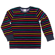 Buy Polarn O. Pyret Children's Velour Stripe Top, Blue/Multi Online at johnlewis.com
