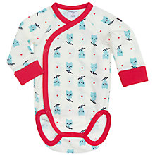 Buy Polarn O. Pyret Baby Bear Print Bodysuit, White/Red Online at johnlewis.com