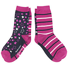 Buy Polarn O. Pyret Children's Socks, Pack of 2, Pink Online at johnlewis.com