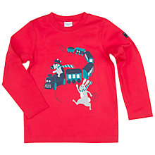 Buy Polarn O. Pyret Children's Train Print Top, Red Online at johnlewis.com