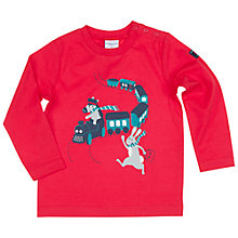 Buy Polarn O. Pyret Baby Train Top, Red Online at johnlewis.com