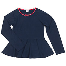 Buy Polarn O. Pyret Children's Long Sleeve Top, Blue Online at johnlewis.com