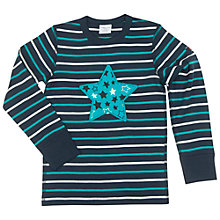 Buy Polarn O. Pyret Children's Stripe and Star Top, Blue Online at johnlewis.com