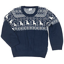 Buy Polarn O. Pyret Children's Christmas Jumper Online at johnlewis.com
