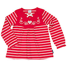 Buy Polarn O. Pyret Children's Stripe Tunic Top, Red Online at johnlewis.com