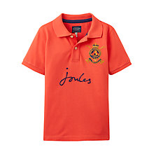 Buy Little Joule Junior Harry Logo Polo Shirt, Red Online at johnlewis.com