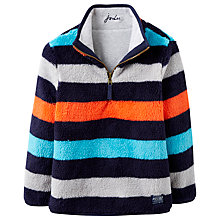 Buy Little Joule Boys' Thomas Reversible Half Zip Fleece, Grey Marl Online at johnlewis.com