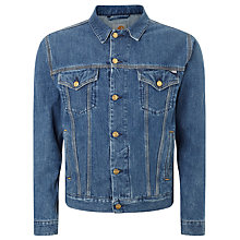 Buy Carhartt WIP Western Stone Washed Denim Jacket, Edgewood Blue Online at johnlewis.com