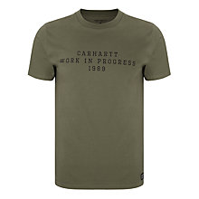 Buy Carhartt WIP Short Sleeve Imprint T-Shirt, Bog/Black Online at johnlewis.com