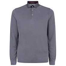 Buy Ted Baker Vak Polo Shirt, Charcoal Online at johnlewis.com