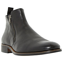 Buy Dune Maccabees Leather Double Side Zip Boots, Black Online at johnlewis.com