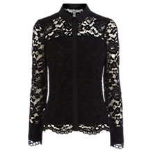 Buy Coast Adelia Lace Blouse, Black Online at johnlewis.com