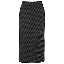 Buy Whistles Asymmetric Tube Skirt, Black/Multi Online at johnlewis.com