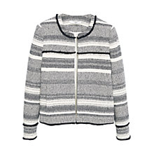 Buy Mango Textured Cotton Blend Jacket, Black Online at johnlewis.com