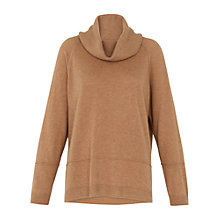 Buy Whistles Cashmere Cowl Neck Jumper, Camel Online at johnlewis.com