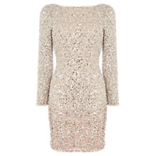 Buy Coast Lydie All Over Sequin Dress, Blush Online at johnlewis.com