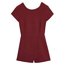 Buy Mango Cut-Out Back Jumpsuit, Dark Red Online at johnlewis.com
