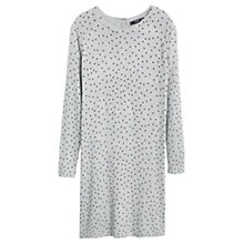 Buy Mango Polka Dot Jersey Dress, Grey Online at johnlewis.com