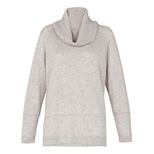 Buy Whistles Cashmere Cowl Neck Jumper, Pale Grey Online at johnlewis.com