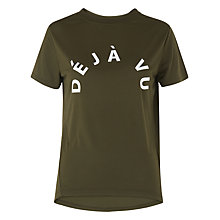 Buy Whistles Deja Vu Logo T-Shirt, Khaki Online at johnlewis.com
