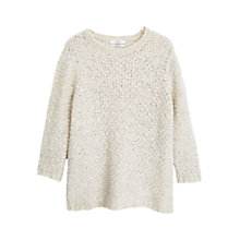 Buy Mango Cable Knit Jumper, Pastel Grey Online at johnlewis.com