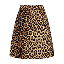 Buy Oasis Leopard Skirt, Multi Online at johnlewis.com