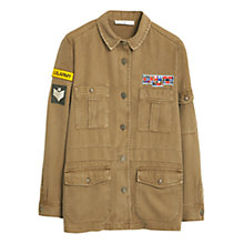 Buy Mango Military Overshirt, Khaki Online at johnlewis.com